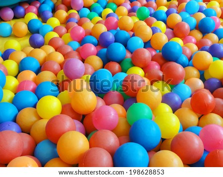 colorful plastic ball for background - stock photo