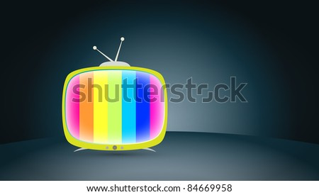 colorful polychrome TV screen - stock photo