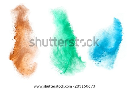 Colorful powder splash  - stock photo