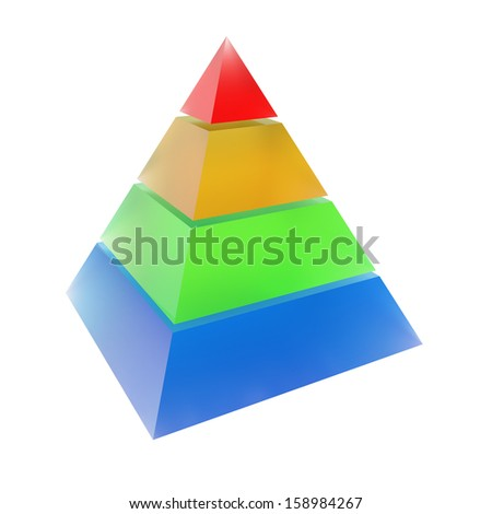 Colorful pyramid - stock photo