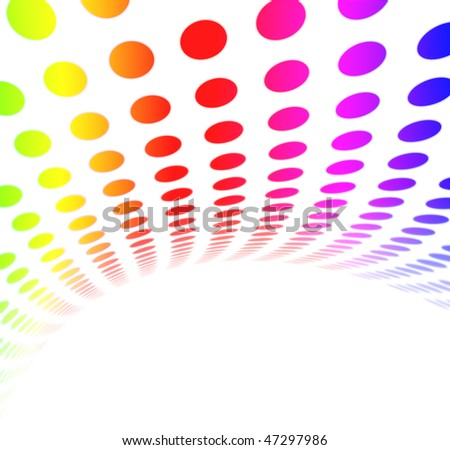Colorful Rainbow Halftone Dot Pattern - stock photo