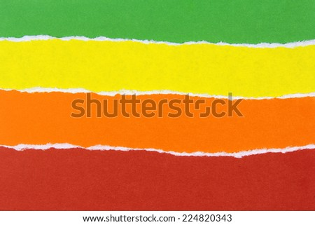 colorful ripped papers - stock photo
