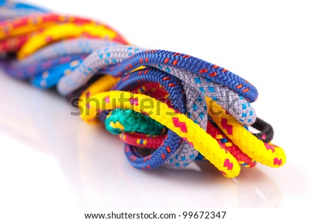 colorful ropes - stock photo