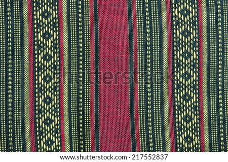 Colorful rough Fabric Texture, Pattern, Background - stock photo