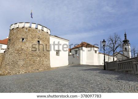 Colorful royal medieval Town Pisek, Czech Republic  - stock photo