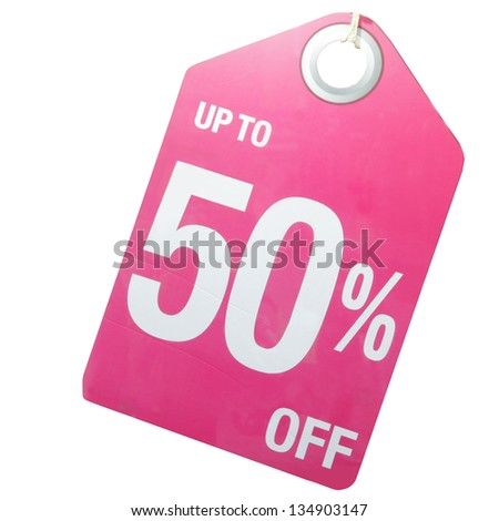 Colorful Sale Sign on white background - stock photo