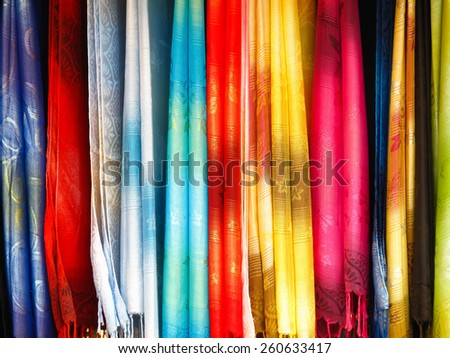 Colorful scarf image for the background. - stock photo