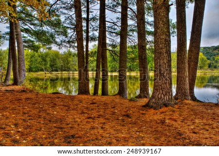 Colorful scenic Landscape in High Dynamic Range - stock photo