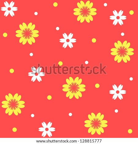 Colorful seamless floral pattern - stock photo