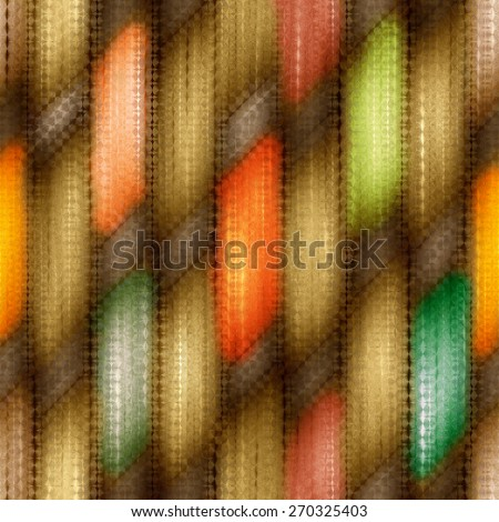 colorful seamless weaving wood  texture  pattern under glass - stock photo