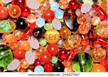Colorful Semi precious stones background - stock photo