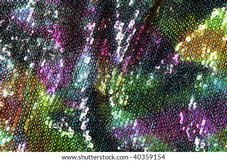 colorful Sequins - stock photo