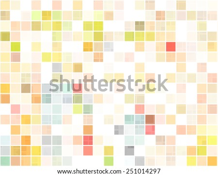 colorful series of squares or pixels  - stock photo