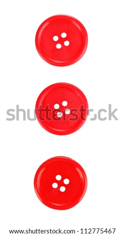 Colorful sewing buttons isolated on white - stock photo