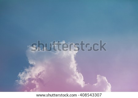 Colorful sky with beautiful clouds. - stock photo