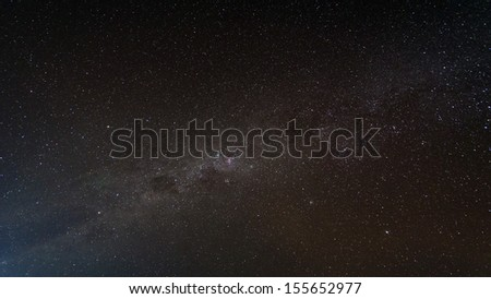 Colorful space shot of stars and space dust - stock photo