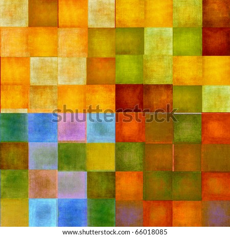 colorful squares - stock photo
