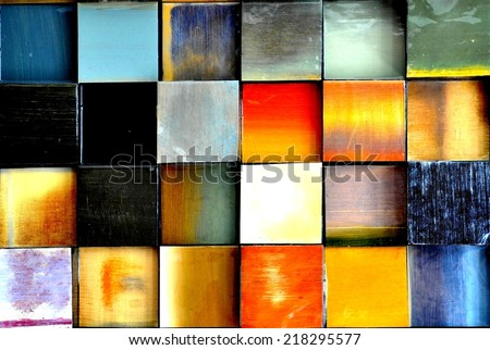 Colorful squares background - stock photo