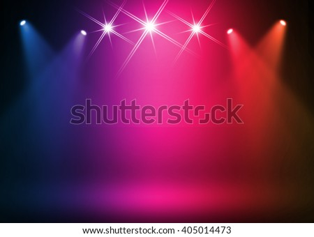 Colorful stage background - stock photo