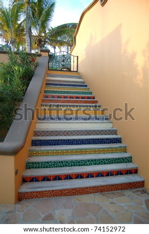 Colorful Stairs - stock photo