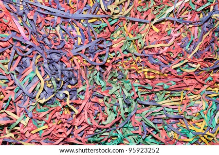 colorful streamers as a background or texture - stock photo