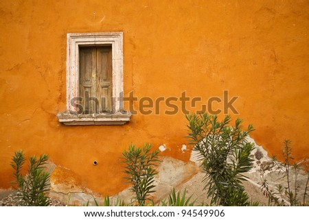 Colorful streetscape in historic San Miguel de Allende, Mexico - stock photo