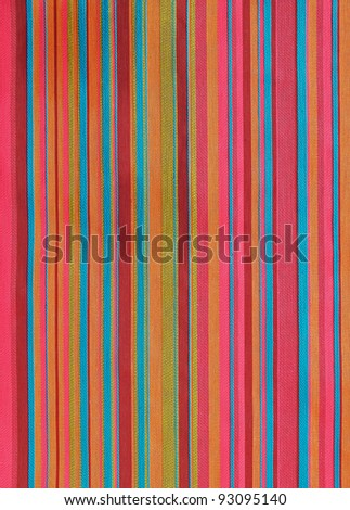 colorful striped fabric texture - stock photo