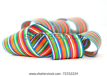 Colorful striped ribbons - stock photo