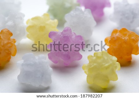 colorful sugar candy, Traditional Japanese sweets - stock photo