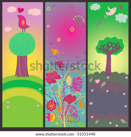 Colorful summer tags - stock photo