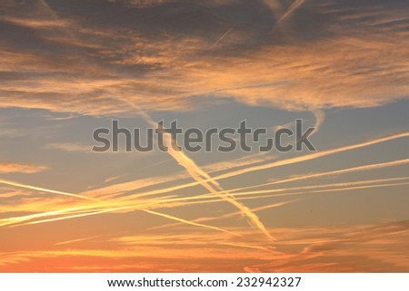 Colorful sunrise - stock photo