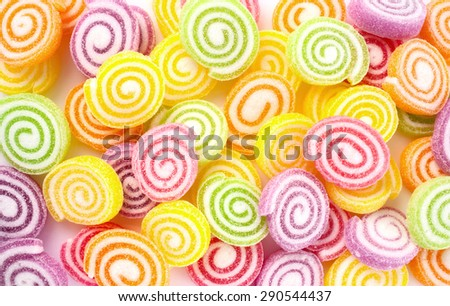 Colorful sweet candies - stock photo