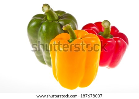 colorful.  sweet pepper isolate on white background. - stock photo