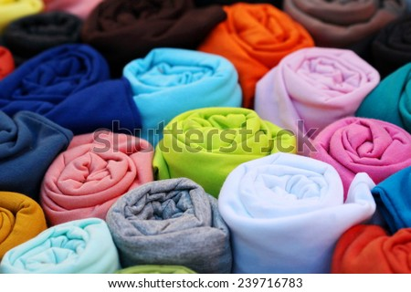 colorful t shirt, roll - stock photo