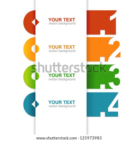 colorful text boxes - stock photo