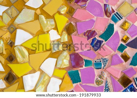 Colorful tile background - stock photo
