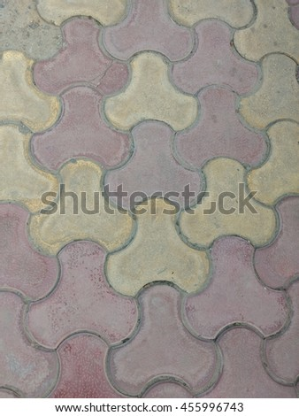 colorful tiles fill on subway - stock photo
