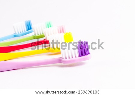 colorful toothbrush - stock photo