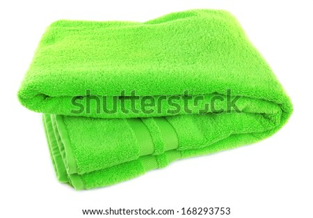Colorful towel isolated on white - stock photo