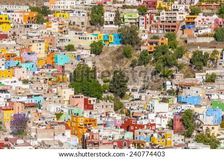 Colorful town of Guanajuato (Mexico) - stock photo