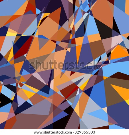 Colorful Triangle Abstract Background. Pattern of Geometric Shapes - stock photo