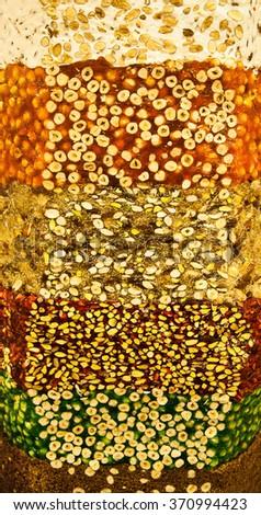 Colorful turkish nougat - stock photo