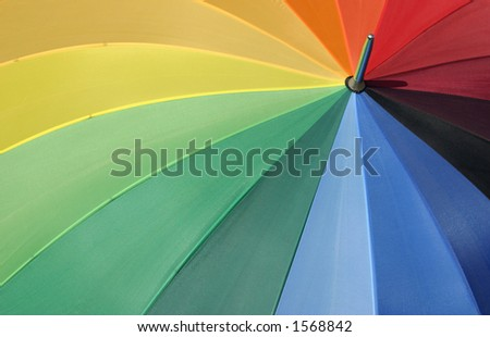 Colorful umbrella. - stock photo