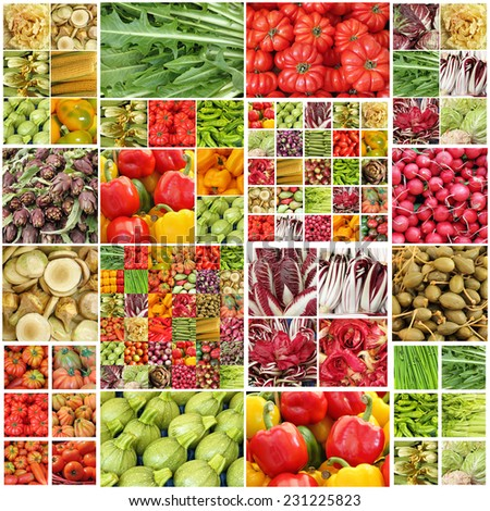 colorful vegetable pattern - stock photo