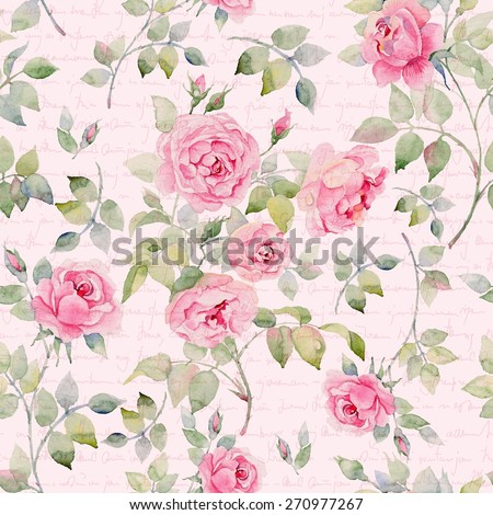 Colorful vintage pattern with floral ornament useful as background. - stock photo