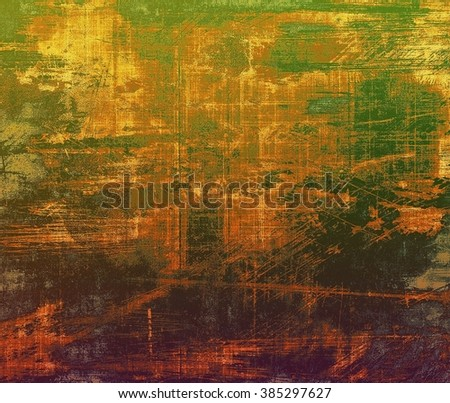 Colorful vintage texture. With different color patterns: yellow (beige); brown; green; purple (violet); gray - stock photo