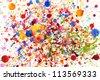 Colorful vivid  water color splash background - stock photo