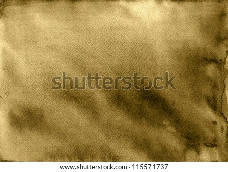 Colorful water color pouring on a paper a background - stock photo