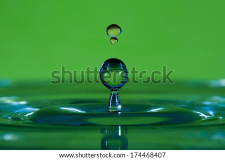 Colorful water drop - close up - stock photo