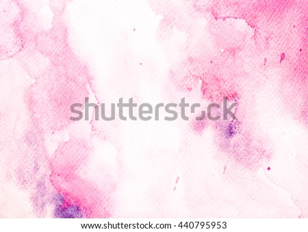 Colorful watercolor abstract hand painted  for textures design art work or skin product. - stock photo